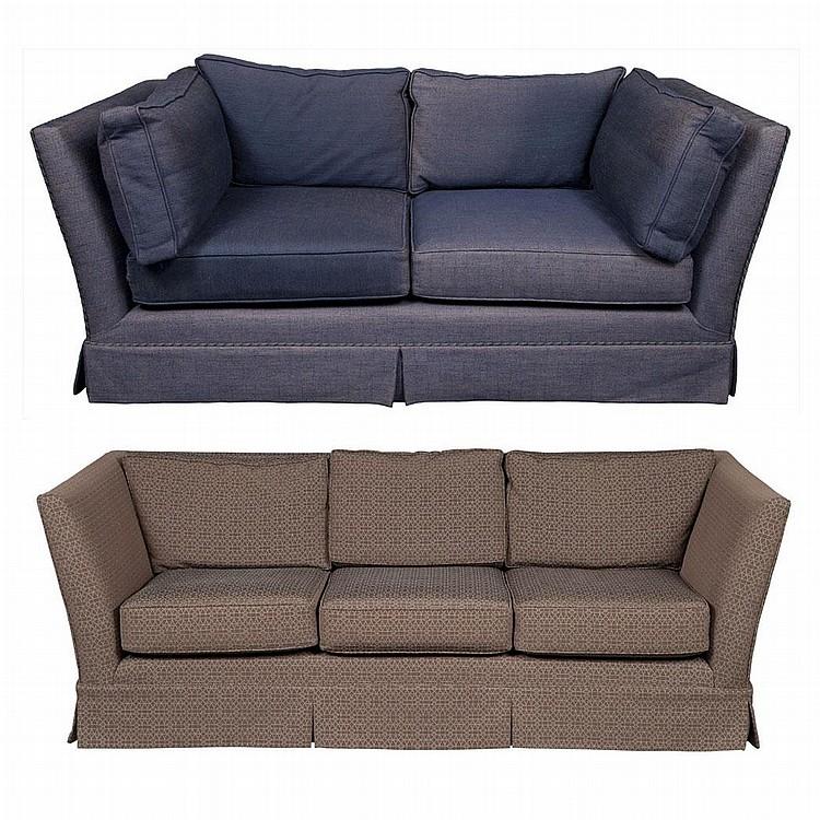 Two custom made upholstered sofas for Custom made sofas uk