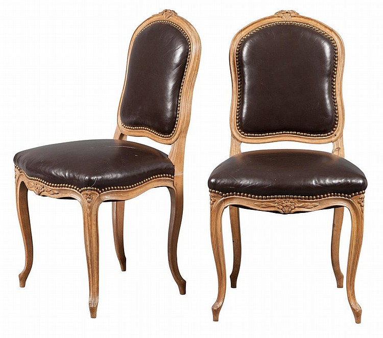 set of eight louis xv style beechwood chaises a la reine