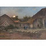 Alexandre Gaston Guignard French, 1848-1922 Rentree au Bercail