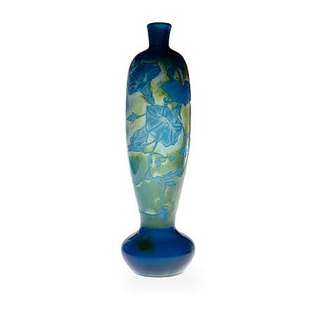 Desire Christian Acid Etched and Wheel Engraved Cameo Glass Vase