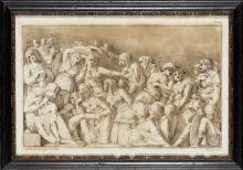 Stefano Mulinari after Polidoro da Caravaggio LAMENTATION OF CHRIST Etching and aquatint