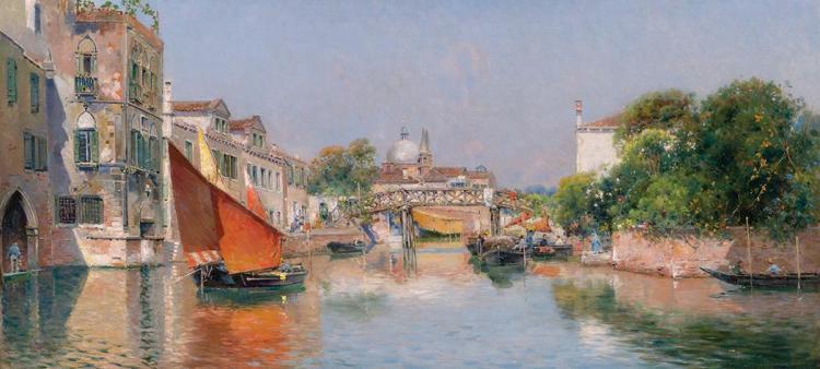 Antonio Maria de Reyna Spanish, 1859-1937 A Venetian Canal