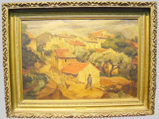 Andre Hebuterne French, 1894-1973 VILLAGE SCENE