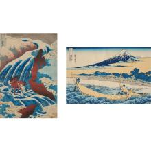 Katshushika Hokusai (1760-1849)  Woodblock prints: Two