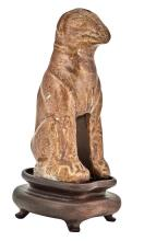 Chinese Amber Glazed Earthenware Model of a Hound