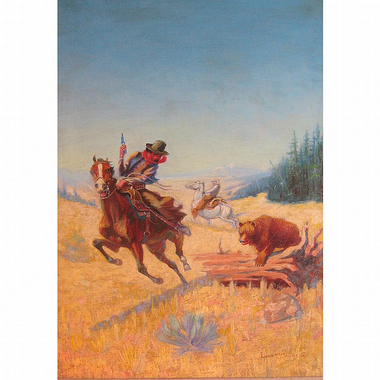 Lone Wolf American, 1882-1965 Grizzlies Charge, 1915