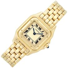 Lady''s Gold ''Panthere'' Wristwatch, Cartier