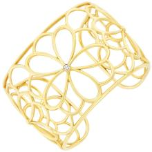 Gold and Diamond ''Petals'' Cuff Bangle Bracelet, Tiffany & Co.