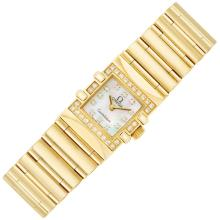 Lady''s Gold, Mother-of-Pearl and Diamond ''Constellation'' Wristwatch, Omega