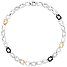 White Gold, White Chalcedony, Black Onyx and Diamond Link Necklace, Tiffany & Co.