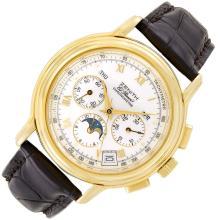 Gentleman''s Gold ''El Primero'' Chronograph Wristwatch, Zenith, Ref. 0240-410