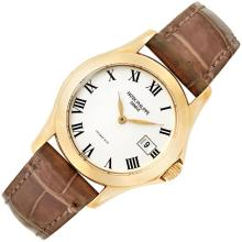 Gold ''Calatrava'' Wristwatch, Patek Philippe, Retailed by Tiffany & Co., Ref. 4906