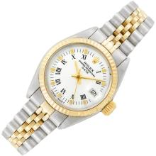Lady''s Stainless Steel and Gold Wristwatch, Rolex