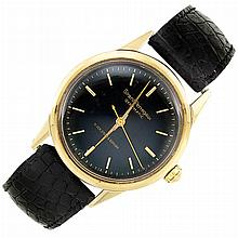Gentleman''s Stainless Steel and Gold ''Gyromatic'' Watch, Girard-Perregaux, Black, Starr & Gorham