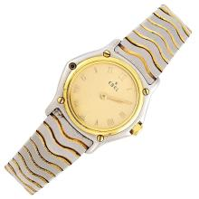 Stainless Steel and Gold Wristwatch, Ebel