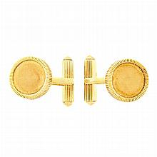 Pair of Gold Cufflinks, Tiffany & Co.