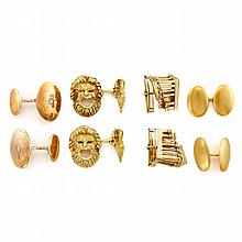 Group of Gold and Low Karat Gold Cufflinks