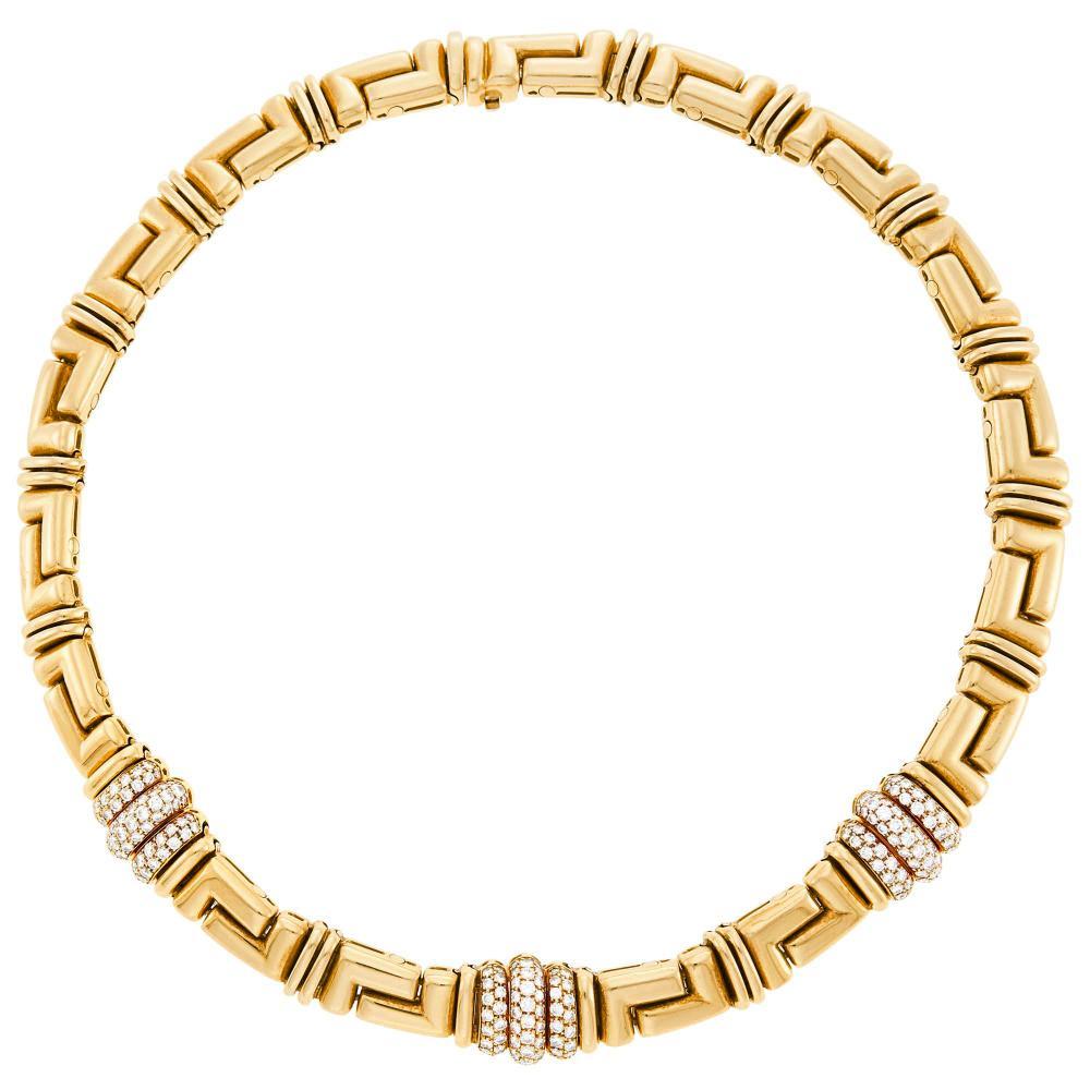 Bulgari Gold and Diamond Necklace