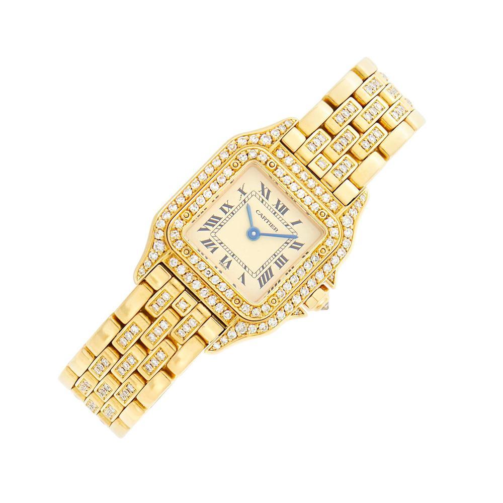 Cartier Gold and Diamond 'Panthère' Wristwatch