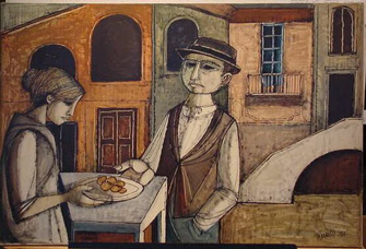 Lucio Ranucci Italian, b. 1934 HUMBLE OFFERINGS and BUDDING ROMANCE: TWO