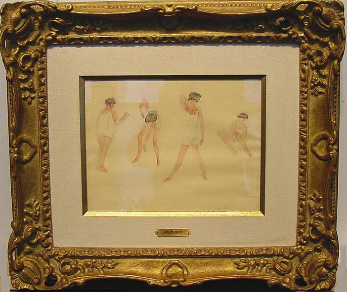 Odilon Roche French, 1868-1947 THE DANCERS and SUR LA PLAGE: TWO