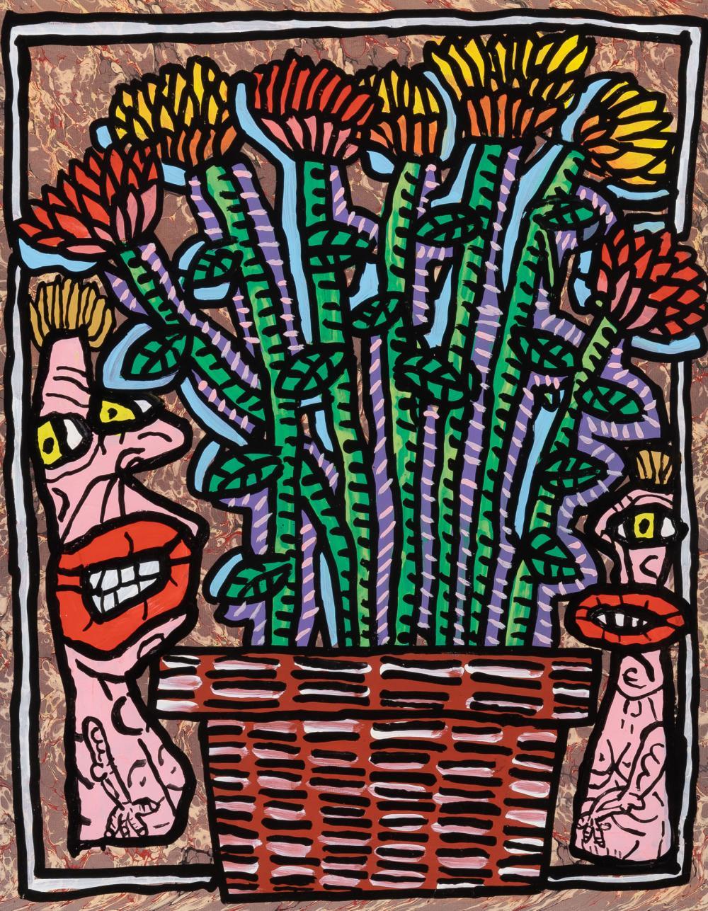 Robert Combas French, b. 1957 Pot de Fleurs des Champs, 1986