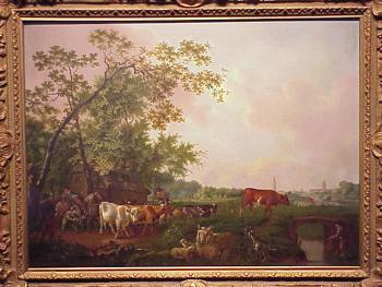 Barend Hendrik Thier Ludinghausen (Munster), circa 1740 - 1811 (Leiden) DROVERS AND CATTLE CROSSING