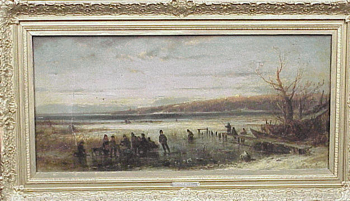 Adolf Stademann German, 1824 - 1895 WINTER ON THE AMMERSEE Signed (lr) Oil on canvas