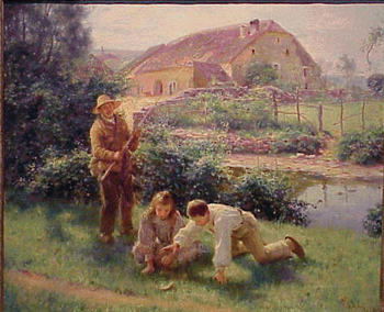 Jules Alexis Muenier French, 1863 - 1942 THE ONE THAT GOT AWAY Signed and dated J.A. Muenier