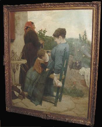 Egisto Ferroni Italian, 1835-1912 THREE GENERATIONS