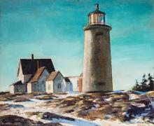 Andrew George Winter American, 1893-1958 Maine Lighthouse, 1938