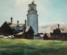 Andrew George Winter American, 1893-1958 Lighthouse, Maine, 1946
