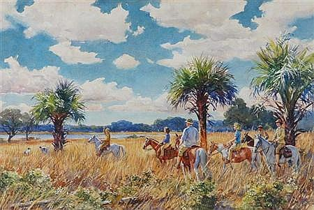 Aiden Lassell Ripley American, 1896-1969 Sport at Laurel Hill Plantation, 1939