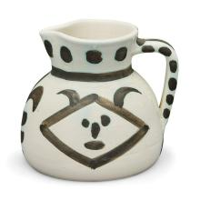 Pablo Picasso TÊTES Painted and partially glazed pitcher