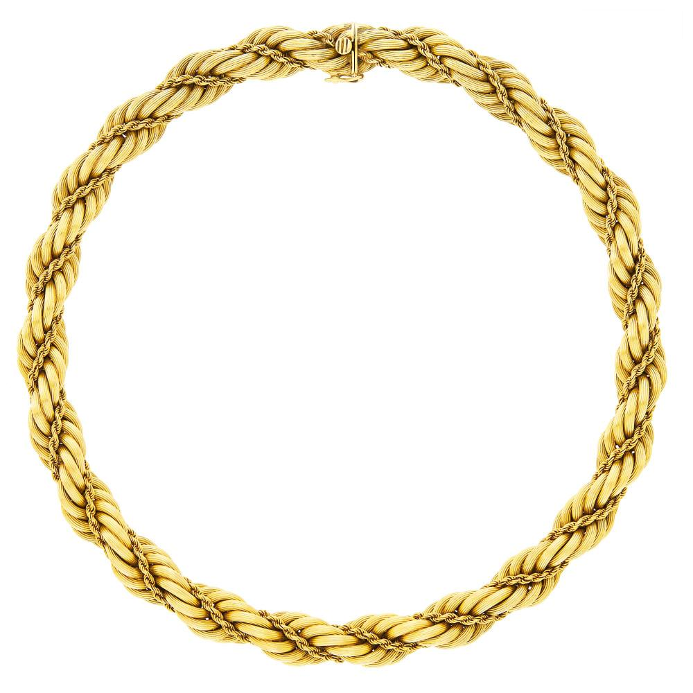 Tiffany & Co. Rope-Twist Gold Necklace
