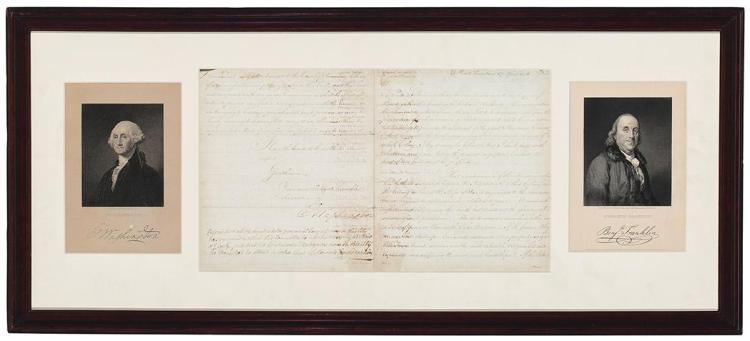 [AMERICAN REVOLUTION] WASHINGTON, GEORGE. Important 1776 letter signed to the New York Committee of Safety. [New York: 17 Ap...