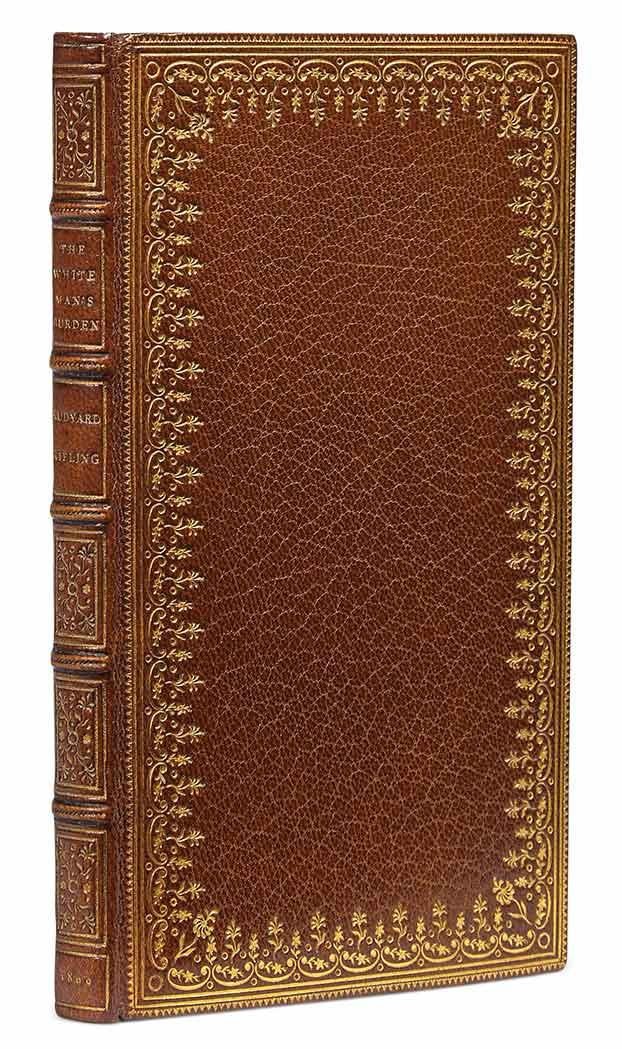 KIPLING, RUDYARD The White Man''s Burden. [Garden City:] The Doubleday and McClure Company, 1899. One of ten copies printed,...