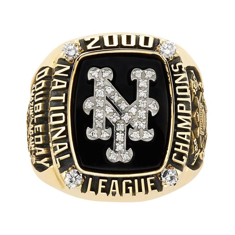 Gold New York Mets 2000 National League Championship Ring