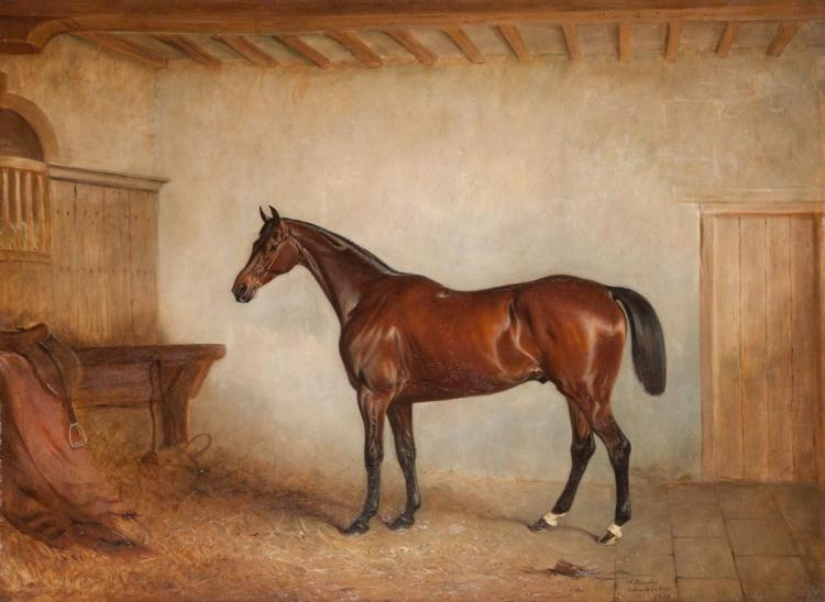 John E. Ferneley British, 1782-1860 Horse in a Stable, 1857