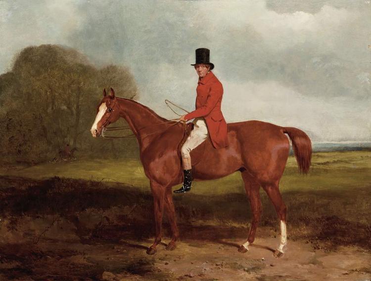 Harry Hall British, 1814-1882 Hunter on his Horse