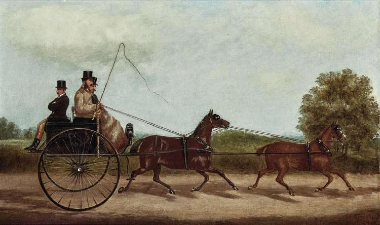 British School 19th Century Carriage Ride Through the Park