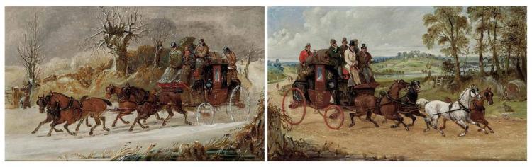 Henry Thomas Alken British, 1785-1851 Winter and Summer: A Pair