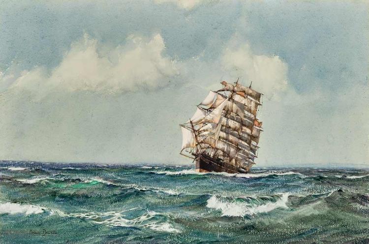 Montague Dawson British, 1890-1973 The Clipper Ship Lightening