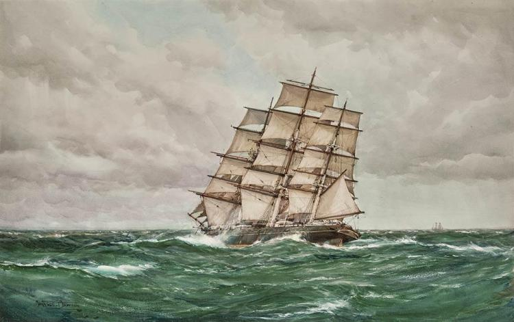 Montague Dawson British, 1890-1973 Clipper Ship
