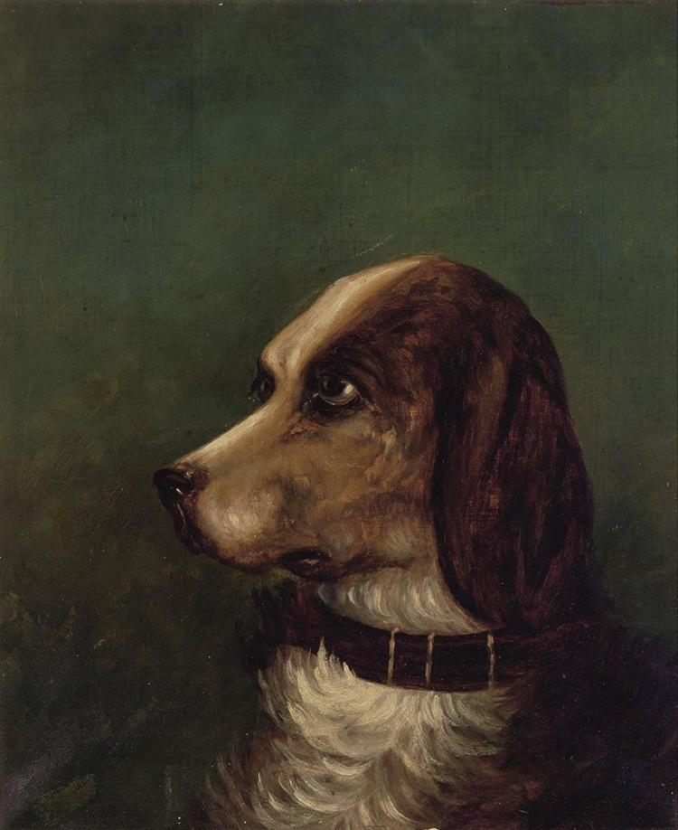 Manner of Sir Henry Landseer Portrait of a Hound
