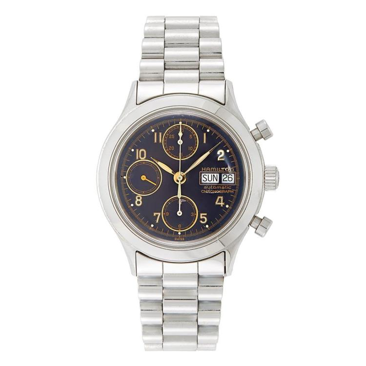 Gentleman''s Stainless Steel Wristwatch, Hamilton