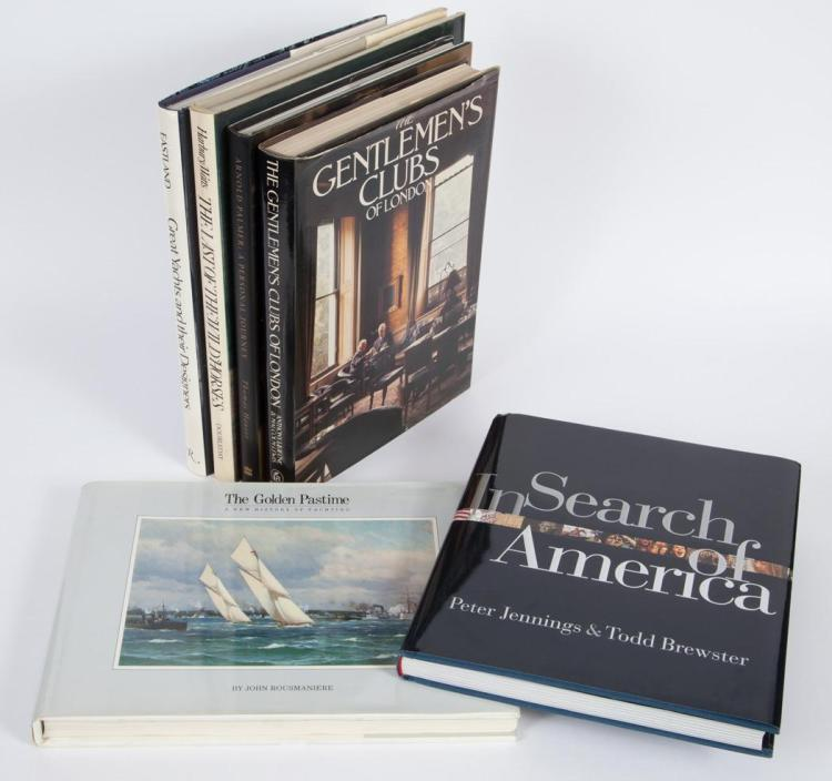 [BOOKS] Group of approximately twenty-two large format volumes, including works on golf, yachting, sporting topics, personal...