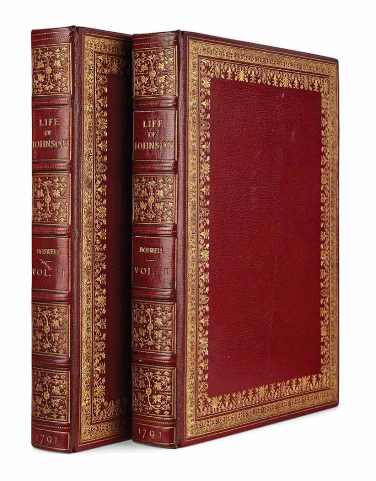 BOSWELL, JAMES The life of Samuel Johnson, LL.D. comprehending an account of his studies and numerous works... London: Henry...