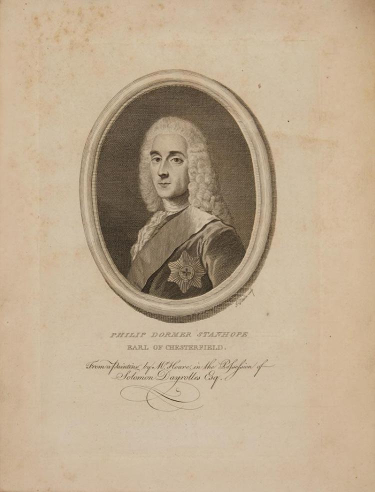 CHESTERFIELD, PHILLIP DORMER STANHOPE Letters written ... to his Son. London: Dodsley, 1774. First edition, second state. 2...