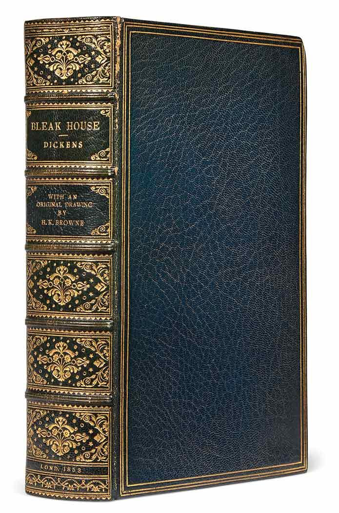 DICKENS, CHARLES Bleak House. London: Chapman and Hall, 1853. First edition in book form, with an original drawing by Phiz....